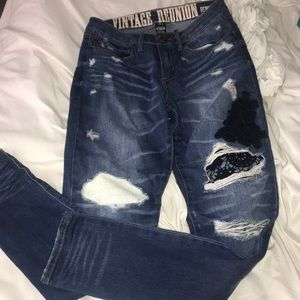 Never worn! Blue jeans